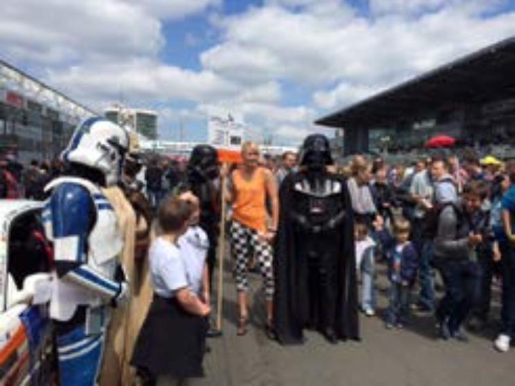 Estaban incluso Darth Vader y algunos soldados de asalto