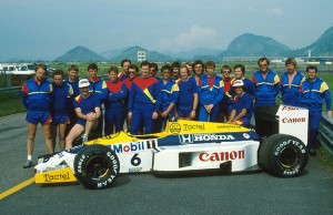 The Williams Team. Brazilian Grand Prix, Rio de Janeiro, 23 March 1986