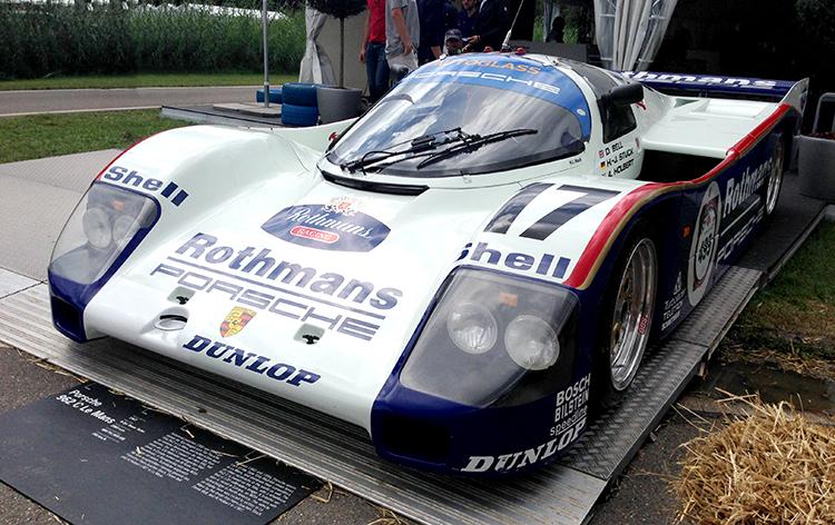 autos clásicos Porsche 962C Motor en Marcha