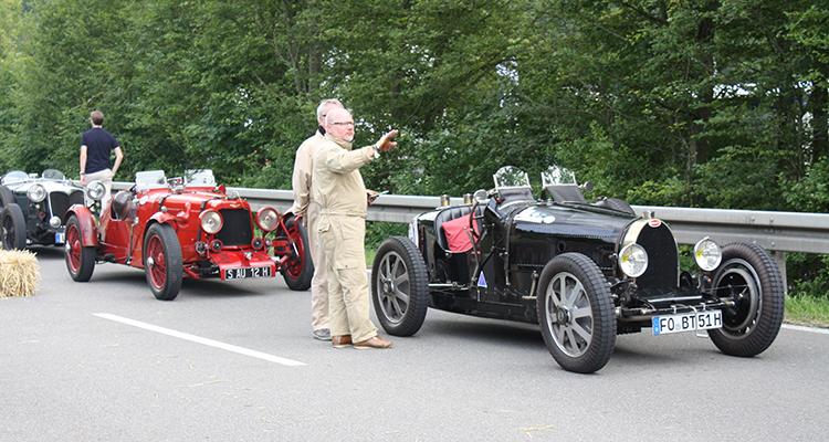 autos clásicos Motor en Marcha